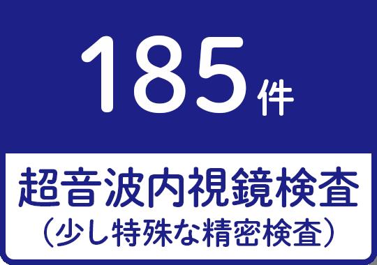 超音波内視鏡検査(少し特殊な精密検査)185件