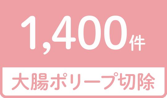 大腸ポリープ切除1,400件
